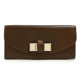 Chloe - 長財布 Lily Chocolate brown