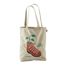 patagonia - Canvas bag - Live Simply Planted: Bleached Stone