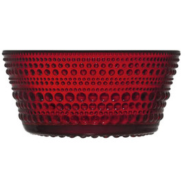iittala - Dewdrop Bowl (Red) by Oiva Toikka