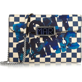MARC BY MARC JACOBS - Pegg Don't Panic leather-trimmed PVC shoulder bag