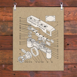 HAMMERPRESS - EXPLODED VIEW CAMERA ART PRINT