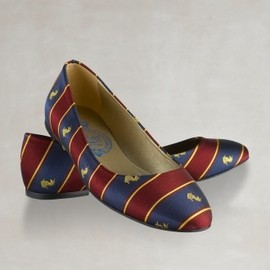 RUGBY RALPH LAUREN - Striped silk ballet flats