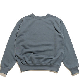 AURALEE - Polyester Sweat P/O-Blue Gray