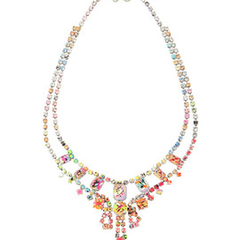Tom Binns - A Riot of Color Cross Necklace