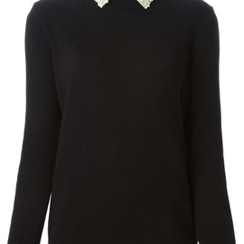 VALENTINO - floral collar sweater