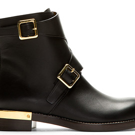Chloé - Black Leather Ankle Boots