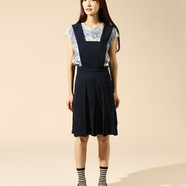OKIRAKU - belted pleated skirt