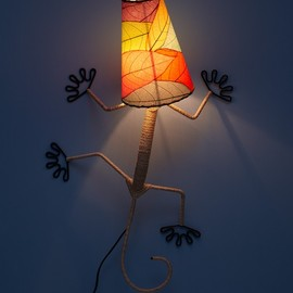 UncommonGoods - Gecko Wall Sconce Lamp