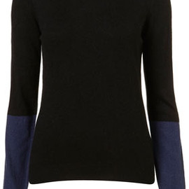 TOPSHOP - KNITTED CONTRAST COLLAR TOP