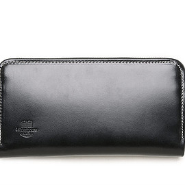 Whitehouse Cox - S2622 Long Zip Wallet-Holiday Line-Black×Marine