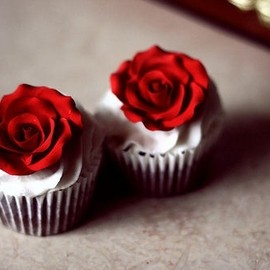 Flower cup cakes