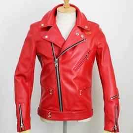 Lewis Leathers - Tight Fit Cyclone (Red)