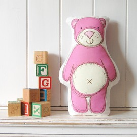 Luulla - Pink Ted - printed softie