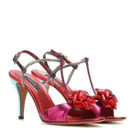 MARC JACOBS - Metallic leather sandals