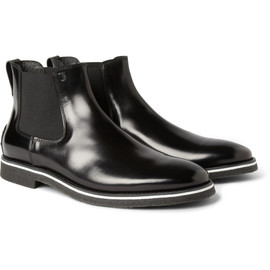 TOD'S - No Code Crepe Sole Leather Chelsea Boots