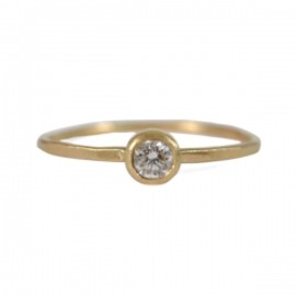 sarah mcguire - .10ct White Diamond Featherweight ring