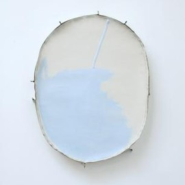 Jim Lee - Wind and Limb, 2012, oil on linen and wood with staples