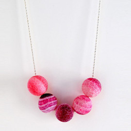 Wink & Bauble - Frosted Pink Necklace