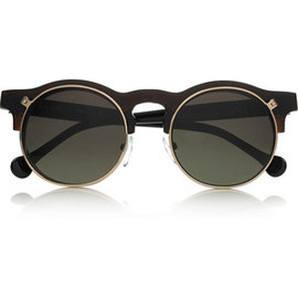 Carven - Anastasie flip-up round-frame acetate sunglasses