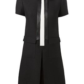 VALENTINO - Pre-Fall 2015 SHIRT COLLAR ON WOOL & SILK CREPE DRESS