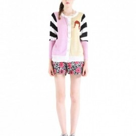 DAYDREAM NATION - DAYDREAM NATION Crossroads Sweater with Crochet Brooch PINK