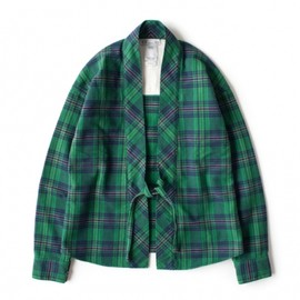 visvim - LHAMO SHIRT (GIZA) GREEN CHECK