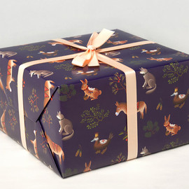 Clap Clap - Farm Animals Wrapping Paper - Purple -