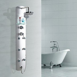 Faucetsmall - 60 Inch Contemporary Chrome Finish Zinc Alloy Shower Faucet - Faucetsmall.com