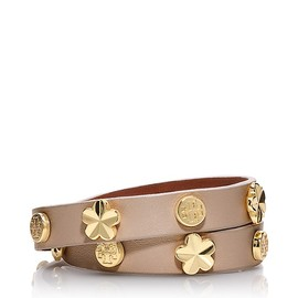 TORY BURCH - FLOWER DOUBLE WRAP BRACELET