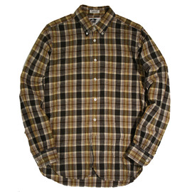Engineered Garments -  19c BD Shirt Brown/Olive Madras Plaid
