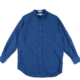 INDIVIDUALIZED SHIRTS - LOFTMAN別注 Band Collar Long Shirts-Indigo