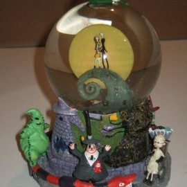 "Disney - Tim Burton's ""The Nightmare Before Christmas"" First Snow Globe (Snowglobe)"