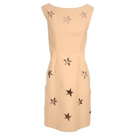 Acne - 'Celeste' Star-Punched Leather Dress