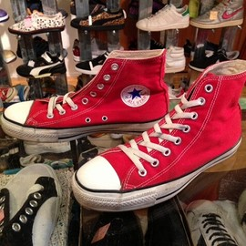 "converse - 「<used>1990s converse ALLSTAR HI  red""made in USA"" size:US7(25.5cm) 6800yen」完売"