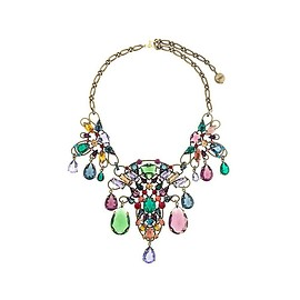 Lanvin - stone cluster necklace