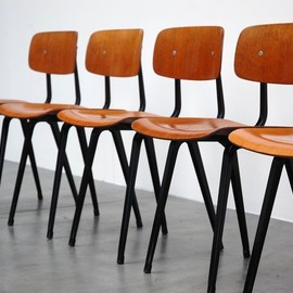 Friso Kramer Revolt - Chairs, Wood & Metal, ca 1958