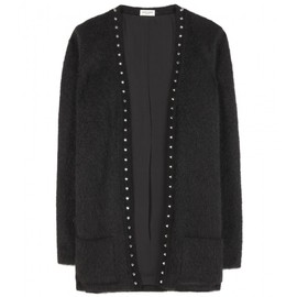 SAINT LAURENT - STUDDED MOHAIR-BLEND CARDIGAN