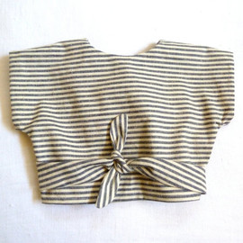 Harries Haberd Ashery - Organic Hemp & Cotton Striped Wrap Top