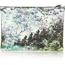 MARY KATRANTZOU - Printed leather clutch