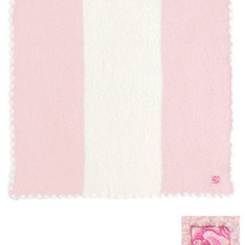 kashwere - BABY BLANKET CENTER STRIPE