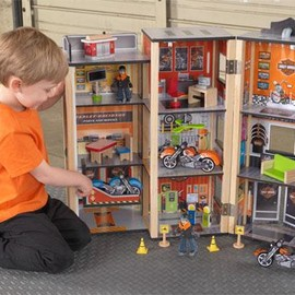 KidKraft - harley-davidson Garage Play Set
