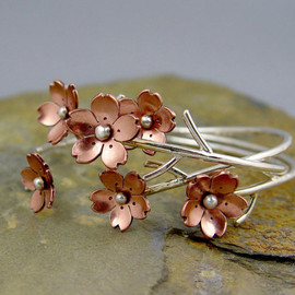 HapaGirls - Cherry Blossom Flower Branch Cuff