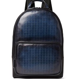 Berluti - Time-Off Vitello Pythagora Patterned Leather Backpack