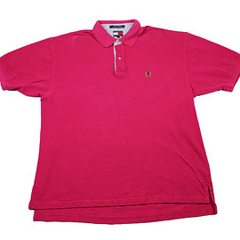TOMMY HILFIGER - Tommy Hilfiger Pink Cotton Polo Shirt Mens Size XL