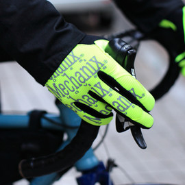 MECHANIX - 蛍光イエローのサイクルグローブ the safety original glove (neon yellow)