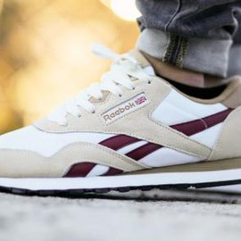 Reebok - REEBOK CLASSIC NYLON WHITE/WALNUT/BURGUNDY/BLACK