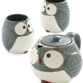 ModCloth - Owl Warm and Cozy Tea Set in Stone