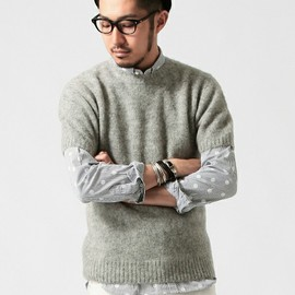 BEAMS - Shaggy Dog Short‐Sleeved Knit