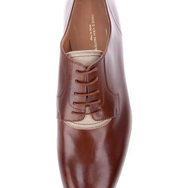 Dries Van Noten - shiny brown  leather lace up shoe