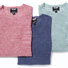 TODD SNYDER - Linen Knit (CREW NECK WITH POCKET)
